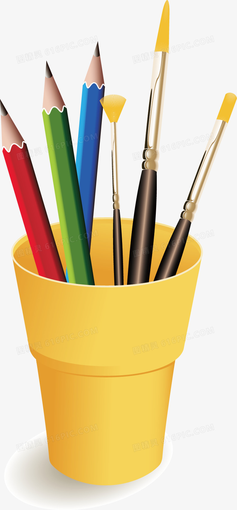 彩漆油漆刷笔筒图片免费下载_高清png素材_图精灵