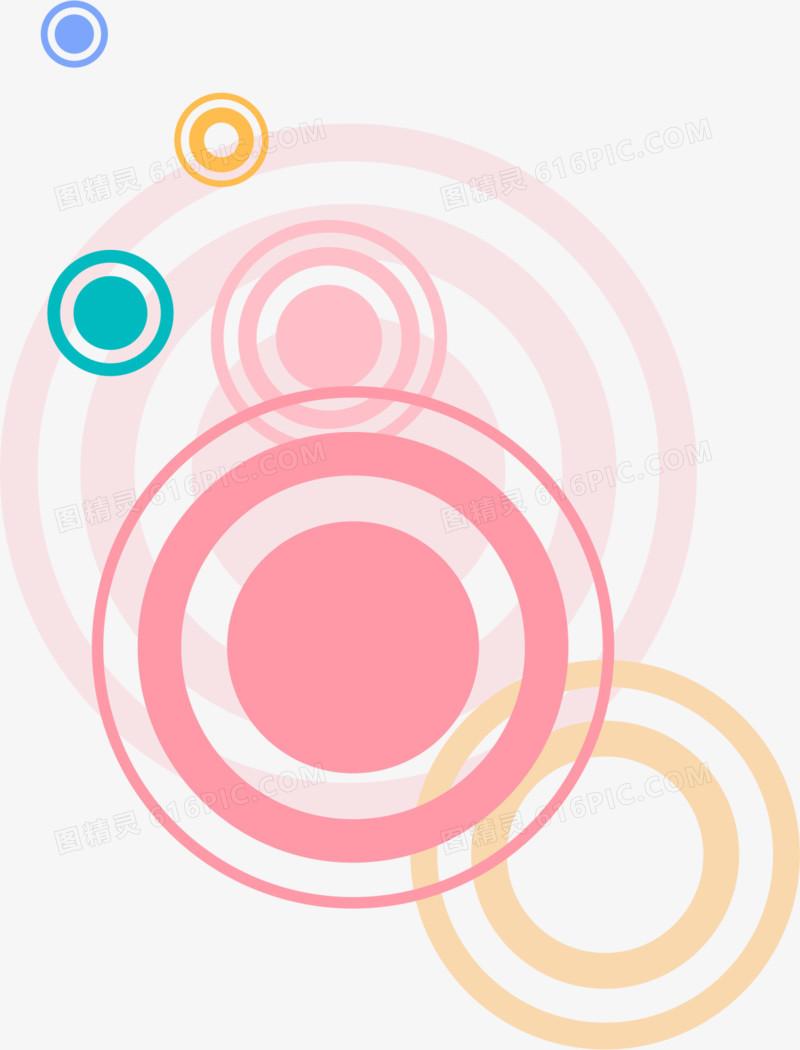 粉色圆圈底纹图片免费下载_高清png素材_图精灵