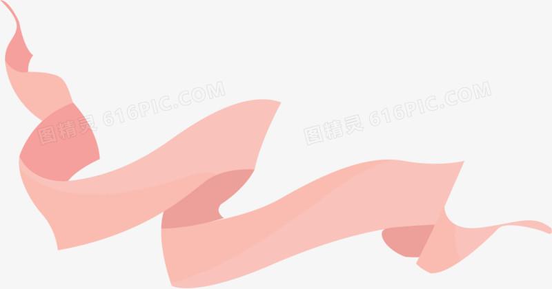 矢量手绘粉色丝带图片免费下载_高清png素材_图精灵