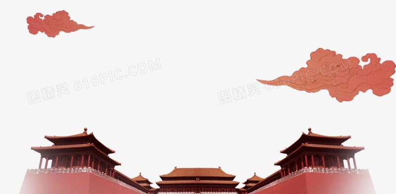 手绘故宫外貌图片免费下载_高清png素材_图精灵
