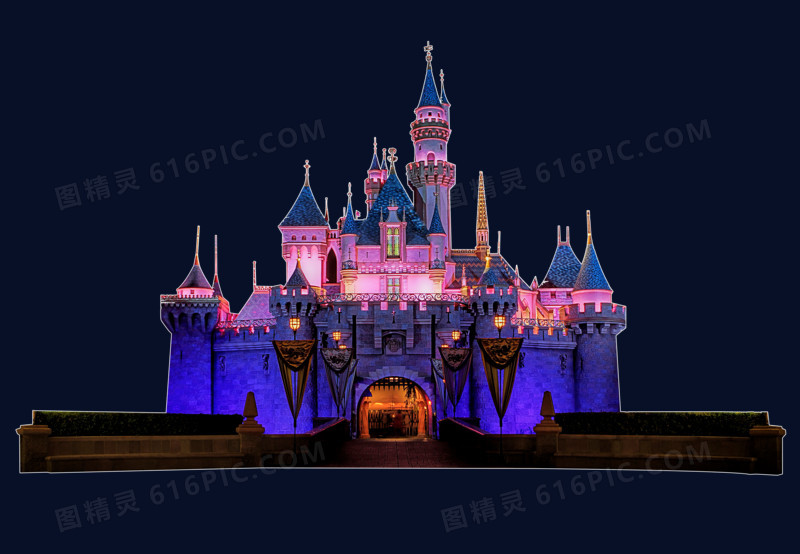 迪士尼城堡图高清图片免费下载_高清png素材_图精灵