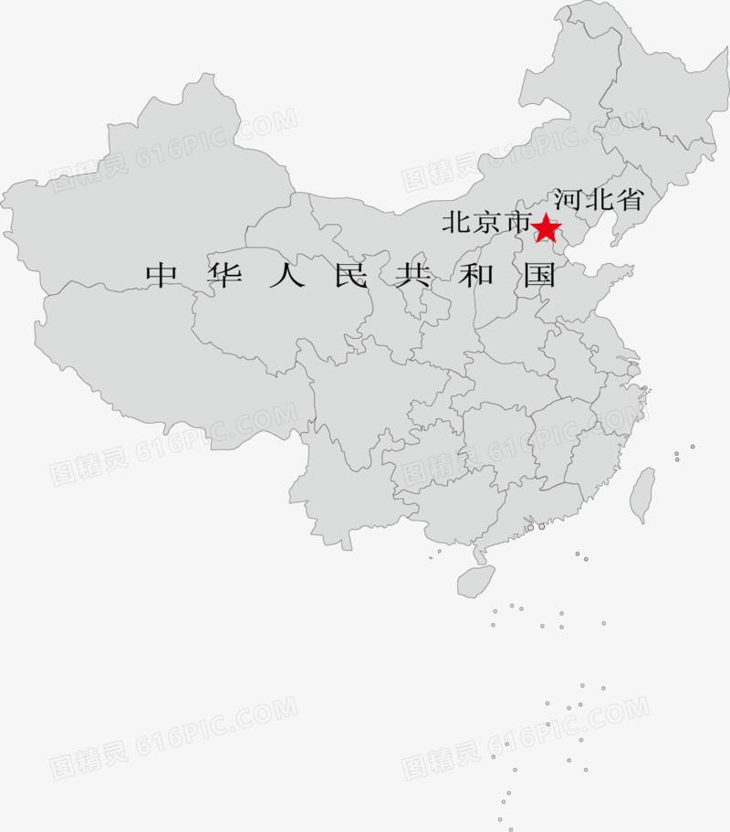 中国地图png矢量素材