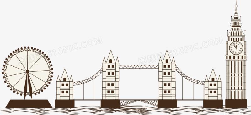 矢量大本钟与塔桥