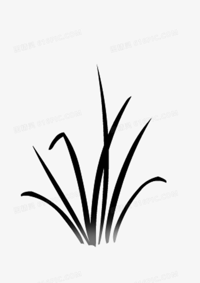 绘画植物 小草 禾苗 黑白图片免费下载_高清png素材