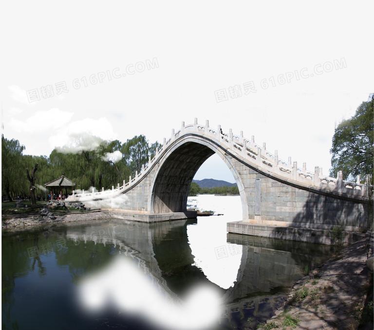 园林造景拱桥图片免费下载_高清png素材_图精灵