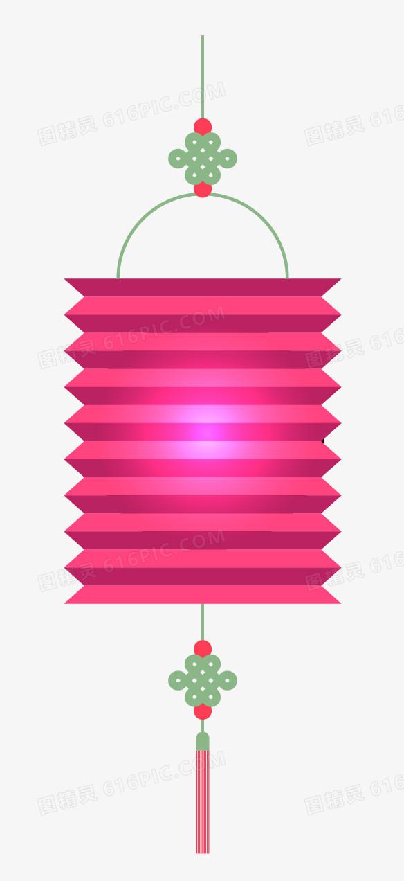 中秋节折纸灯笼装饰图案