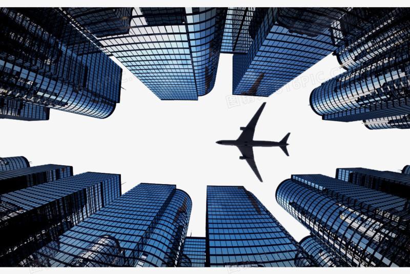 飞机大楼仰视图片免费下载_高清png素材_图精灵