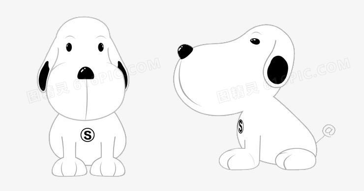 小狗素材小狗图片 卡通手绘狗狗