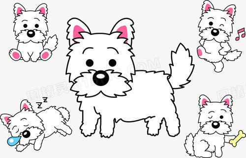 狗图案卡通小狗 手绘小狗