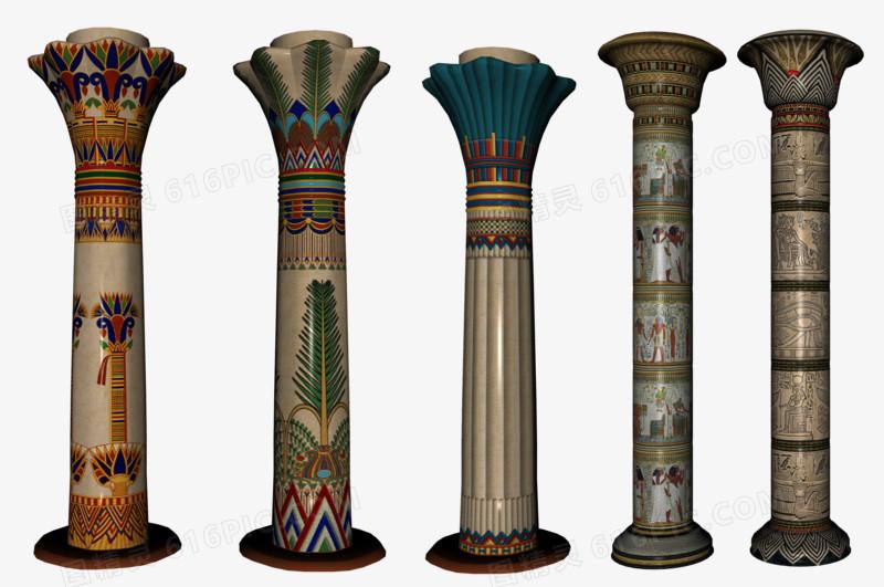 欧式复古花纹罗马柱柱子图片免费下载_高清png素材_图