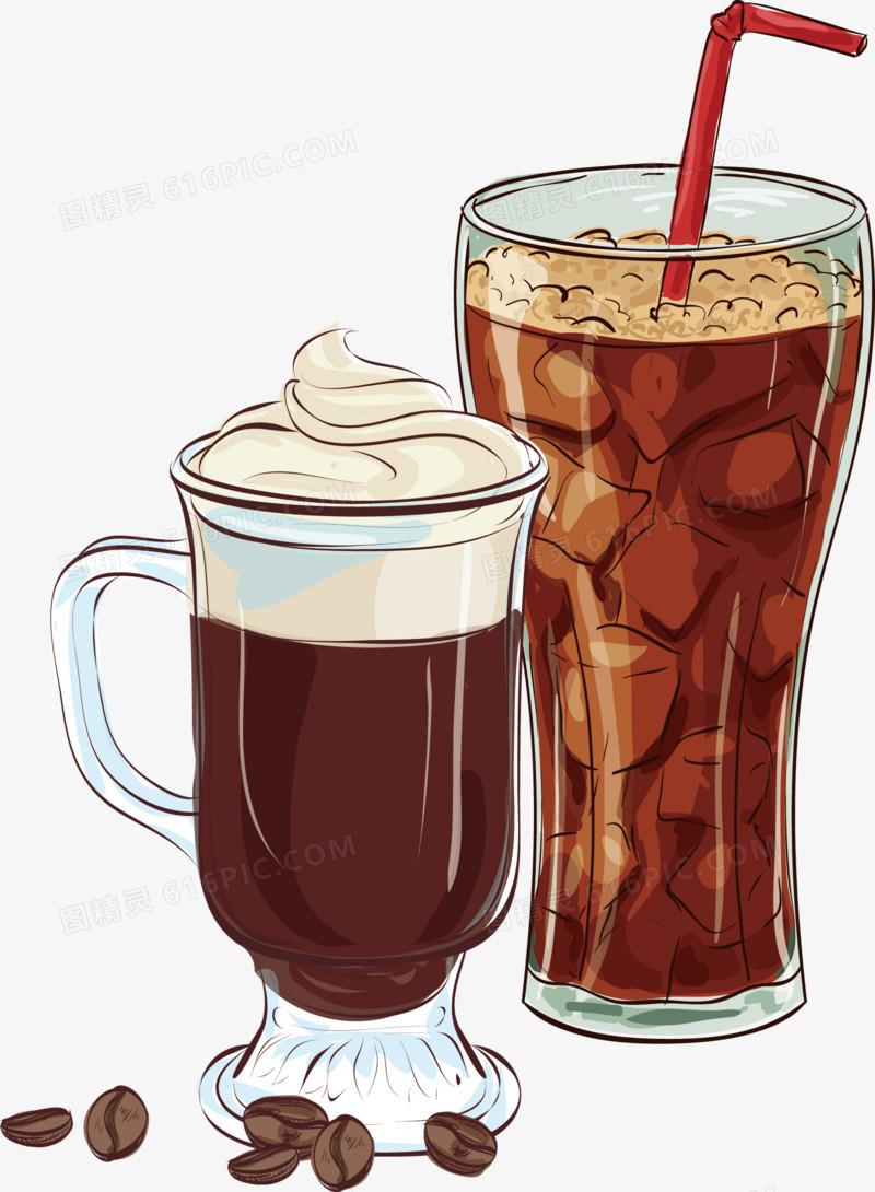 手绘咖啡饮品图片免费下载_高清png素材_图精灵