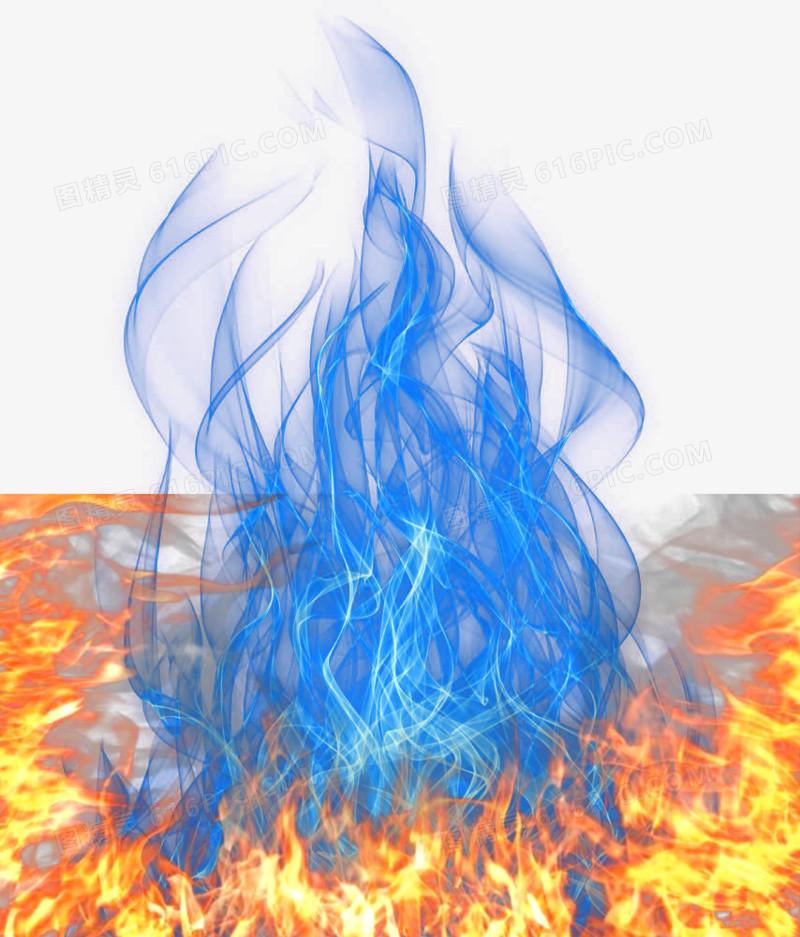蓝黄火焰图片免费下载_高清png素材_图精灵