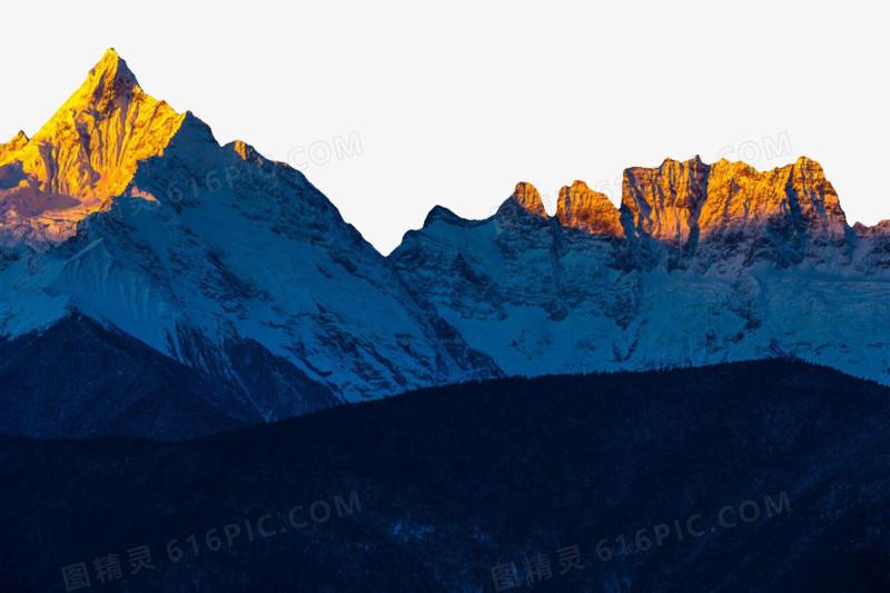 云南梅里雪山风景图图片免费下载_高清png素材_图精灵