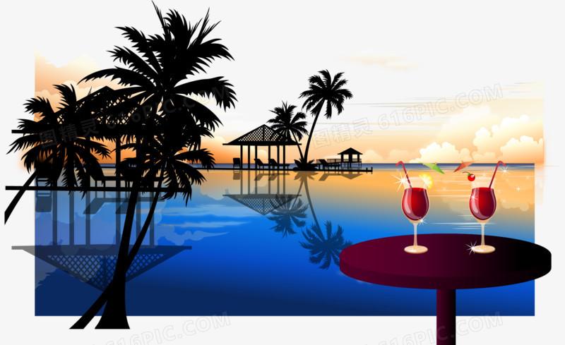 椰子树风景图片免费下载_高清png素材_图精灵
