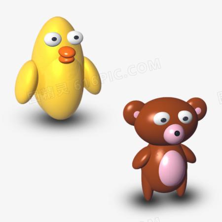 3D卡通小动物