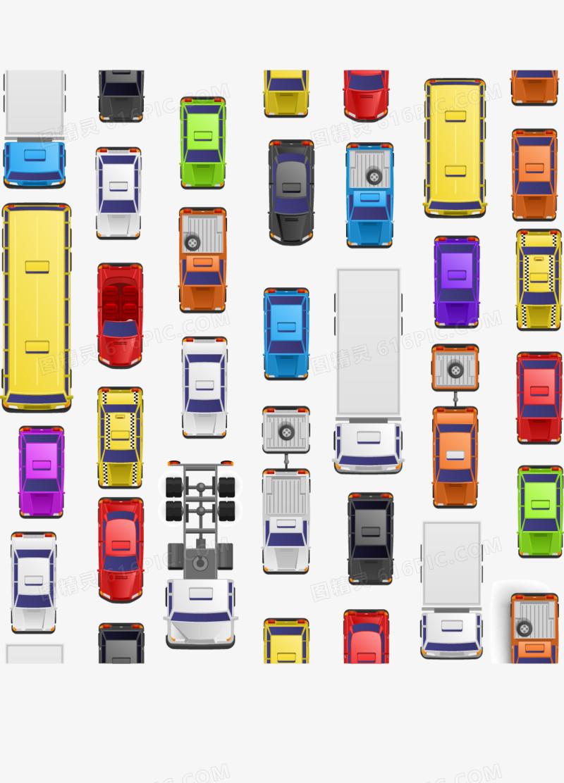 创意交通阻塞俯视图片免费下载_高清png素材_图精灵