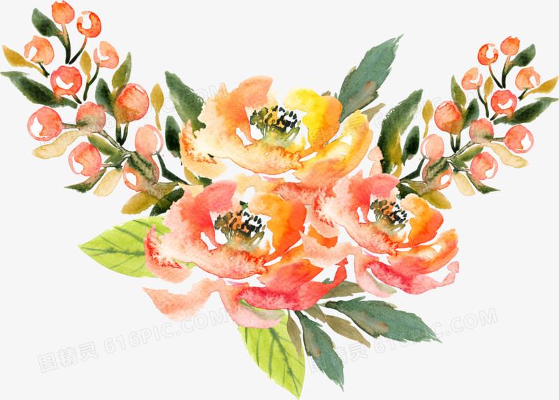 森系水彩花朵图片免费下载_高清png素材_图精灵