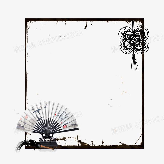 古风扇子边框图片免费下载_高清png素材_图精灵