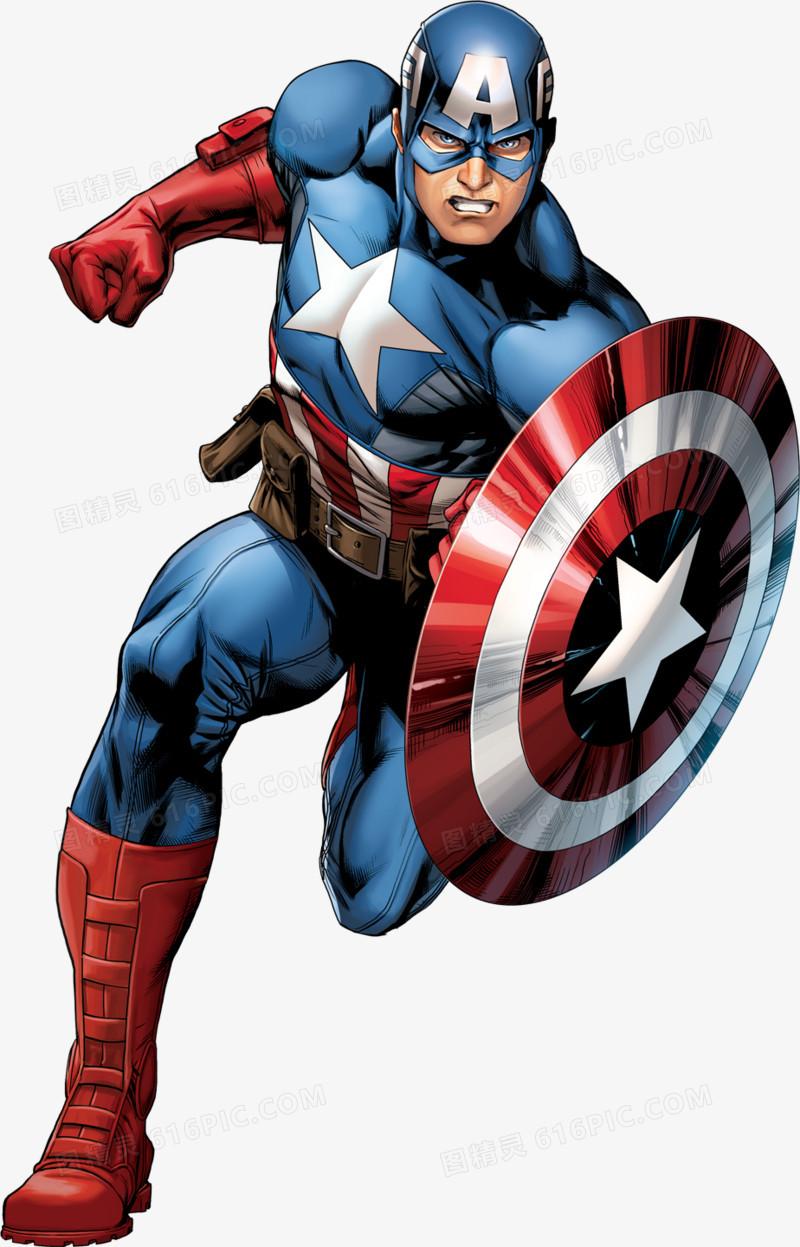 动漫人物美国队长图片免费下载_高清png素材_图精灵