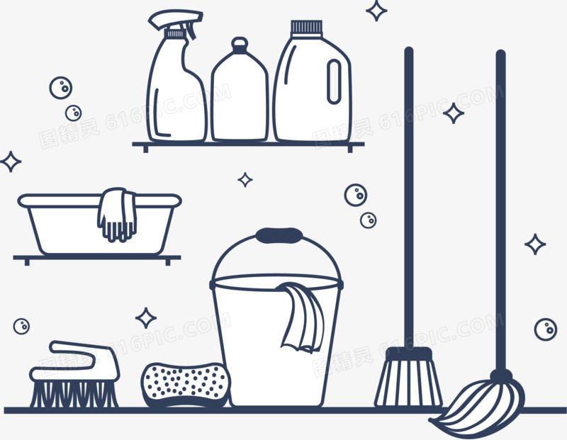 图精灵 免抠元素 卡通手绘 > 清洁工具矢量素材   图精灵为您提供清洁