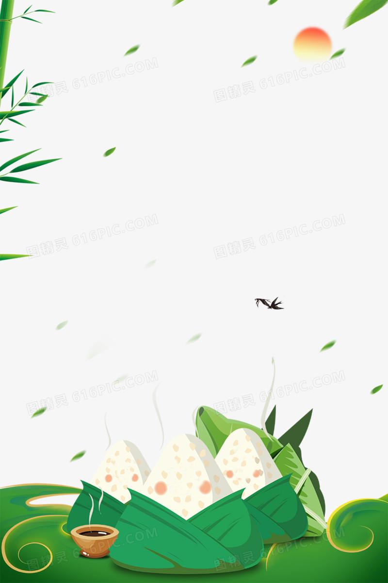浓情端午粽子促销海报边框图片免费下载_高清png素材