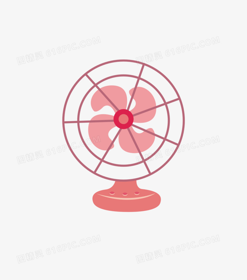 卡通手绘电风扇素材图片