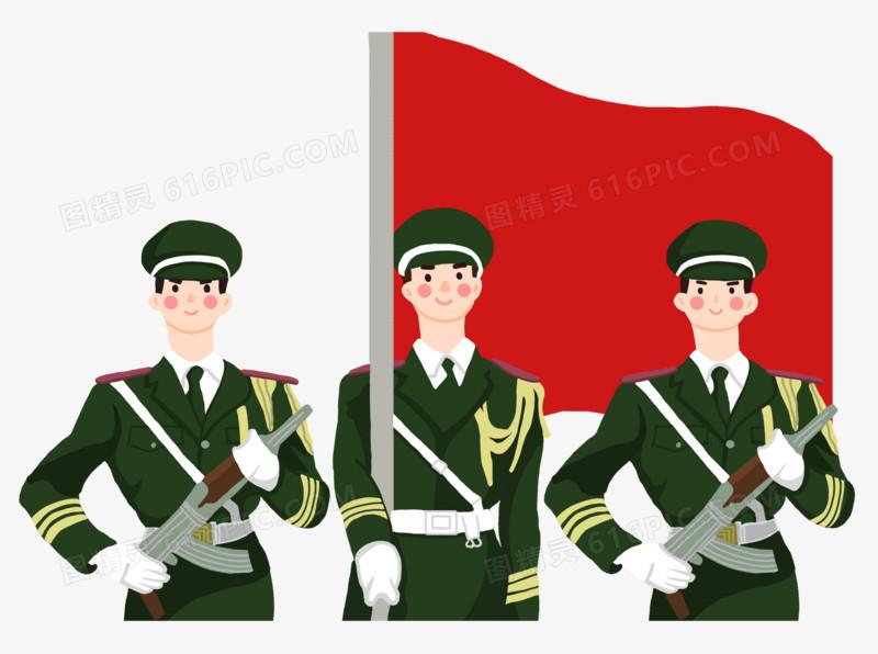 建党节军人升旗仪式图片免费下载_高清png素材_图精灵