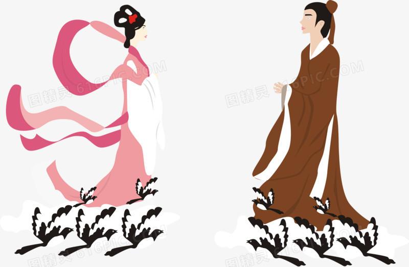 七夕情人节之牛郎织女图片免费下载_高清png素材_图