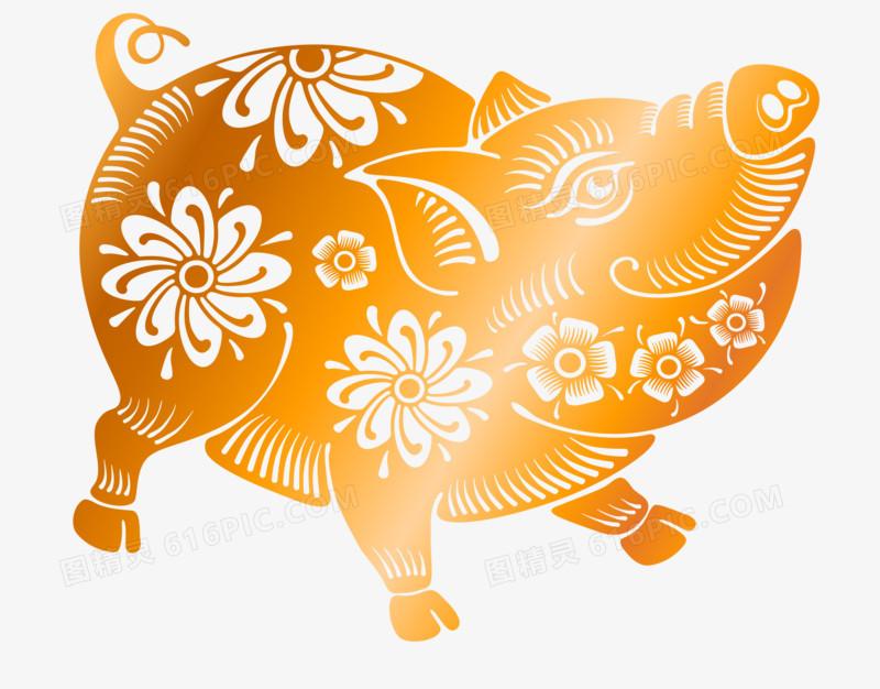 2019猪年卡通图片手绘
